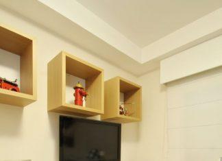 Nichos para quarto de solteiro amarelos