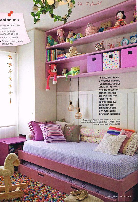 Nichos para quarto infantil cor de rosa