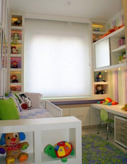 Nichos para quarto infantil nos cantos