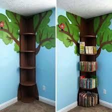 Prateleira para livros quarto infantil em árvore