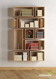 Prateleiras para livros criativas em compartimentos