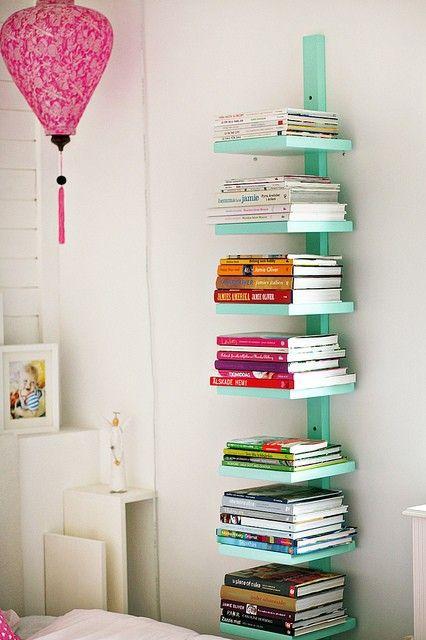 Prateleiras para livros criativas vertical