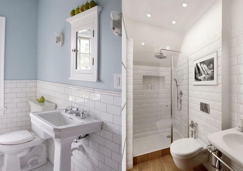 Decoracao Banheiro Azulejo Banheiro branco 80 ideias de decoração possíveis -> Decoracao Azuleijo Banheiro