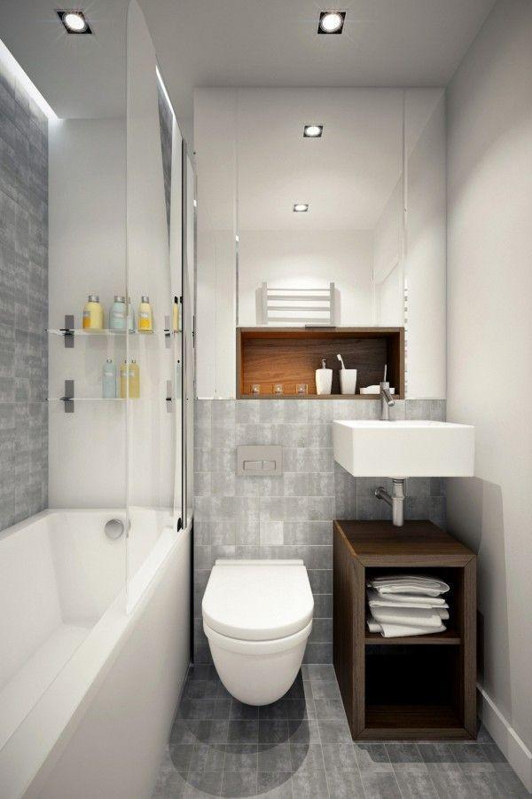 Revestimento para banheiro branco e cinza