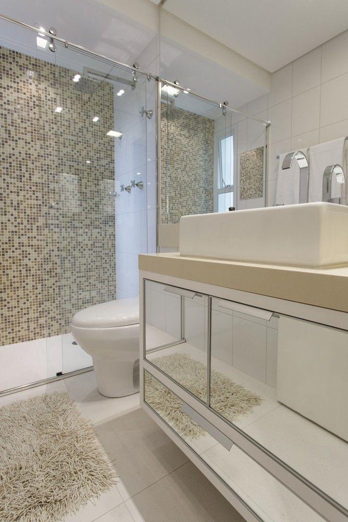 Revestimento para banheiro  30 ideias maravilhosas para você [ Fotos ] -> Revestimento Para Banheiro Simples E Pequeno