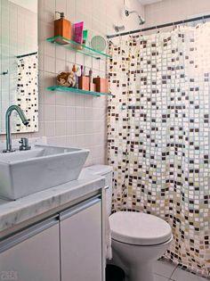 Revestimento para banheiro simples e marrom