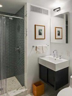 Revestimento para banheiro simples e preto