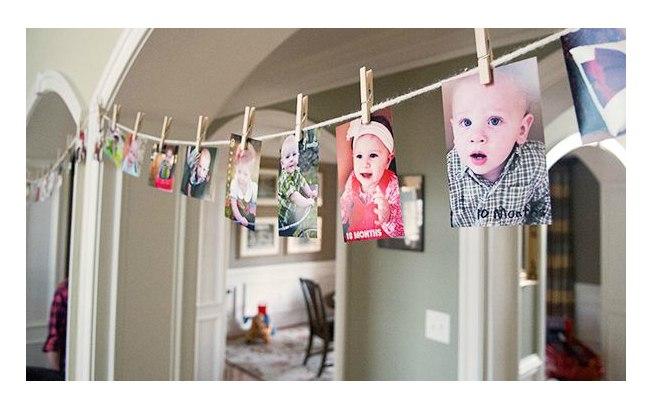 Varal de fotos aniversario infantil