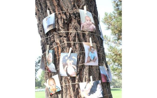 Varal de fotos ao ar livree