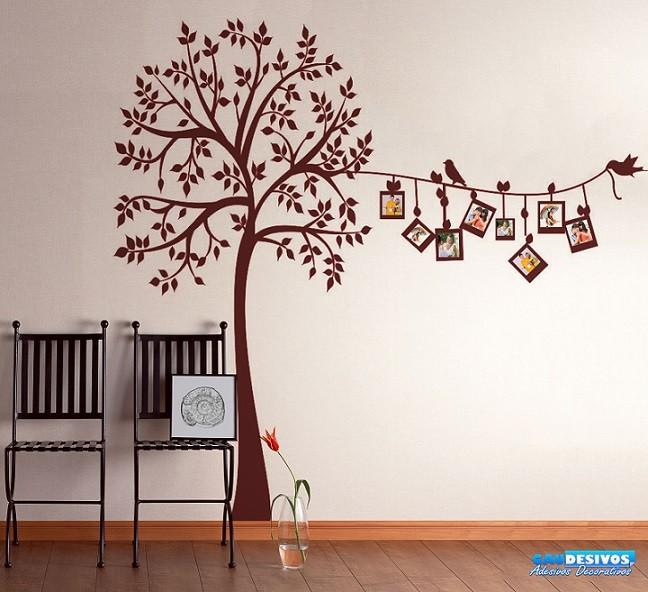 Varal de fotos de árvore