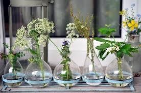 Vasos de vidro para decoração de casamento