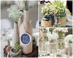 Vasos de vidro para decoração de casamentoo