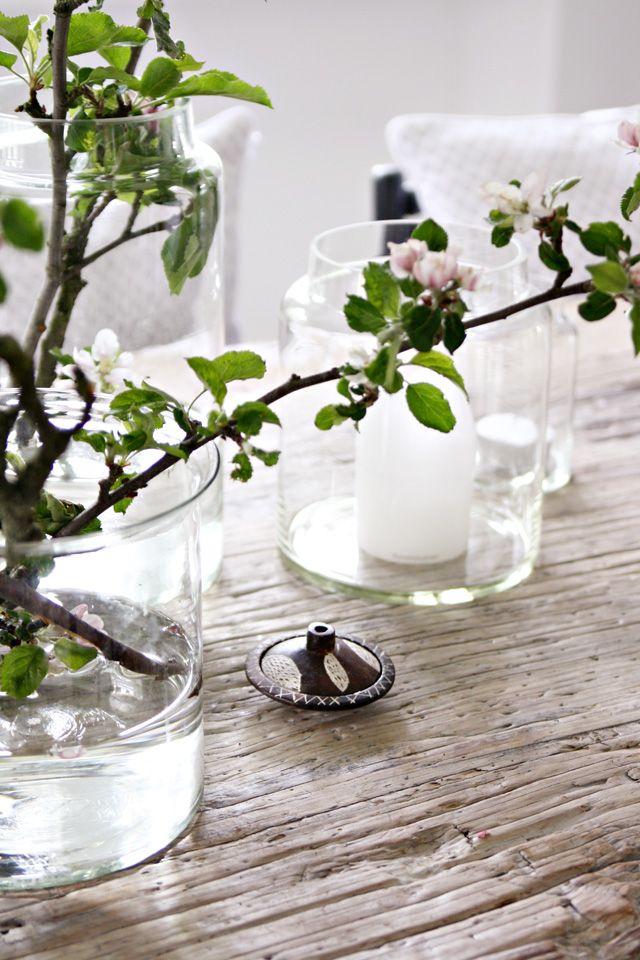 Vasos de vidro para mesa