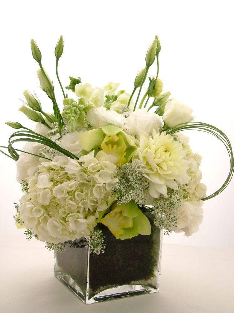Vasos de vidro quadrado