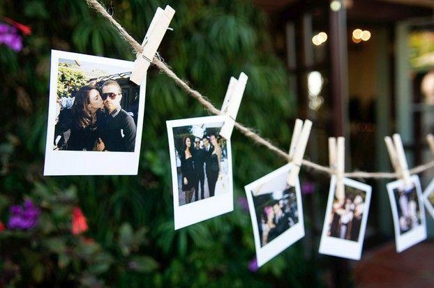varal de fotos decoração noivado
