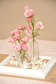 arranjos de mesa de jantar com rosas