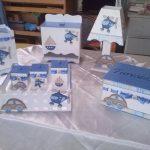 artesanato em mdf para bebe azul