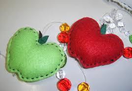 artesanato em tecido para cozinha com coração
