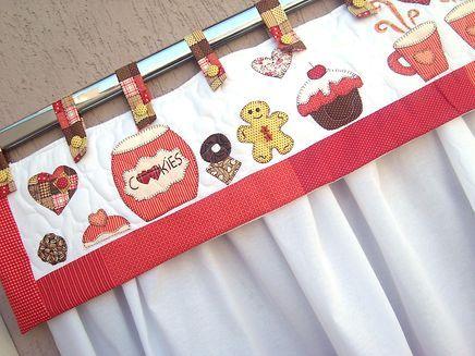 cortinas para cozinha artesanal bscoitos e cookies