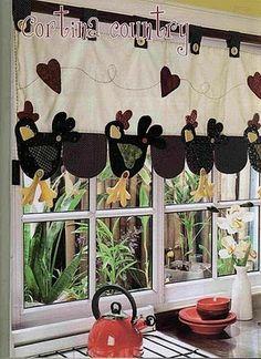 cortinas para cozinha artesanal com plantas