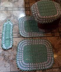 jogo de banheiro dual color verde