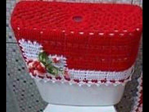jogo de banheiro dual color vermelho
