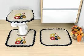 jogo de banheiro em tecido bege