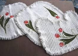jogo de banheiro em tecido branco