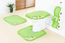jogo de banheiro em tecido verde