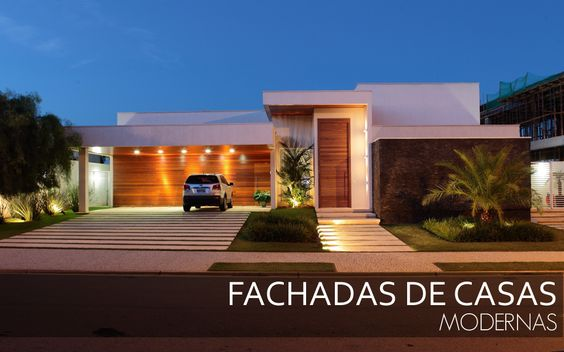 Casas modernas veja mais de 100 modelos projetos e for Modelo de fachadas para casas modernas