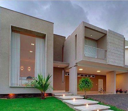 Casas modernas veja mais de 100 modelos projetos e for Fachada de casas modernas estilo oriental