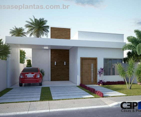 Casas modernas veja mais de 100 modelos projetos e for Modelo de casa x dentro