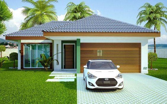 Casas modernas veja mais de 100 modelos projetos e for Modelos de frente para casas pequenas