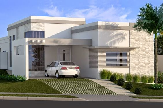 Casas modernas veja mais de 100 modelos projetos e for Zaguan de casas modernas