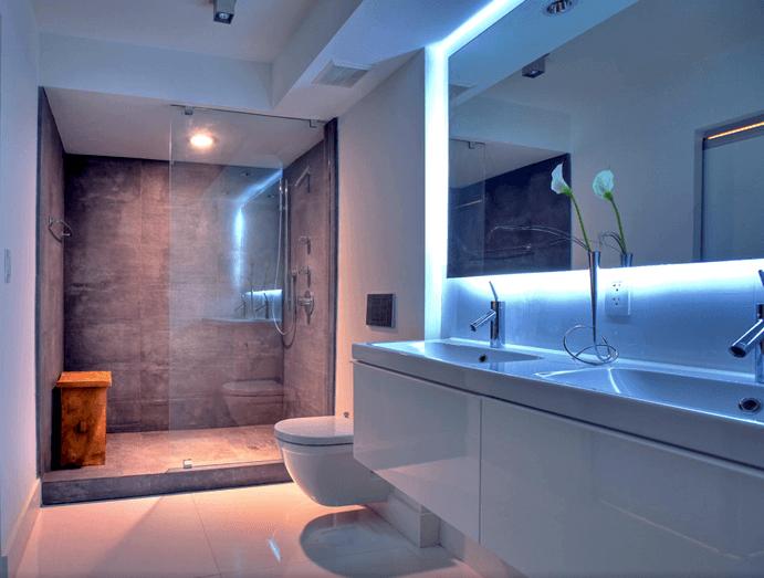 Banheiros de casas modernas
