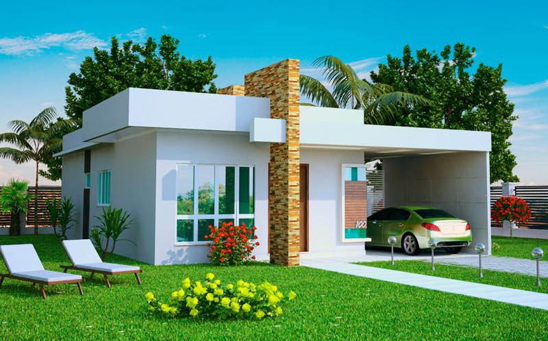 Casas modernas até 100m2