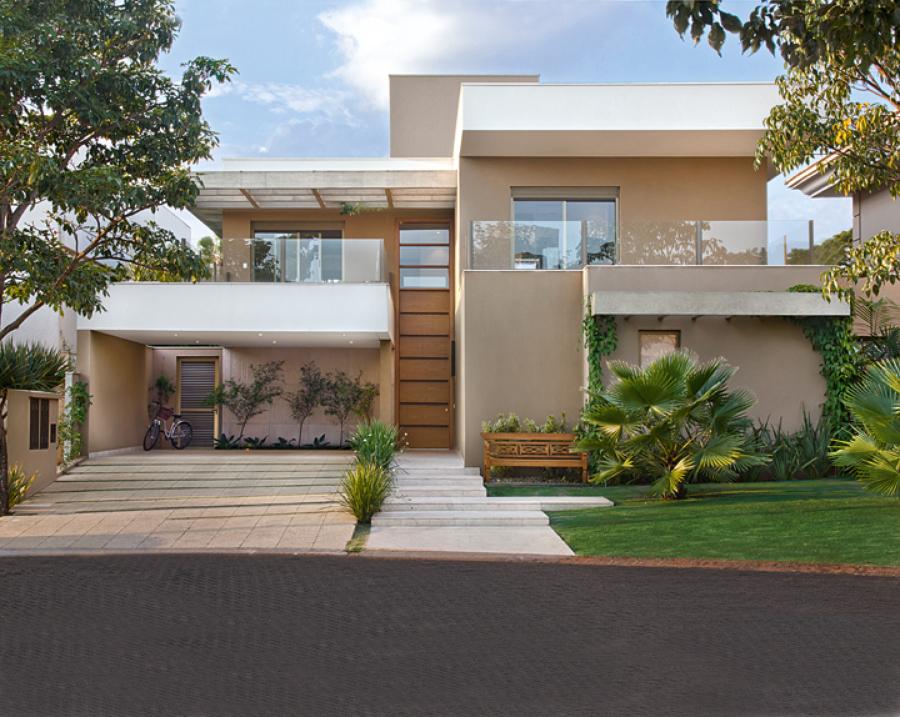 Casas modernas bege