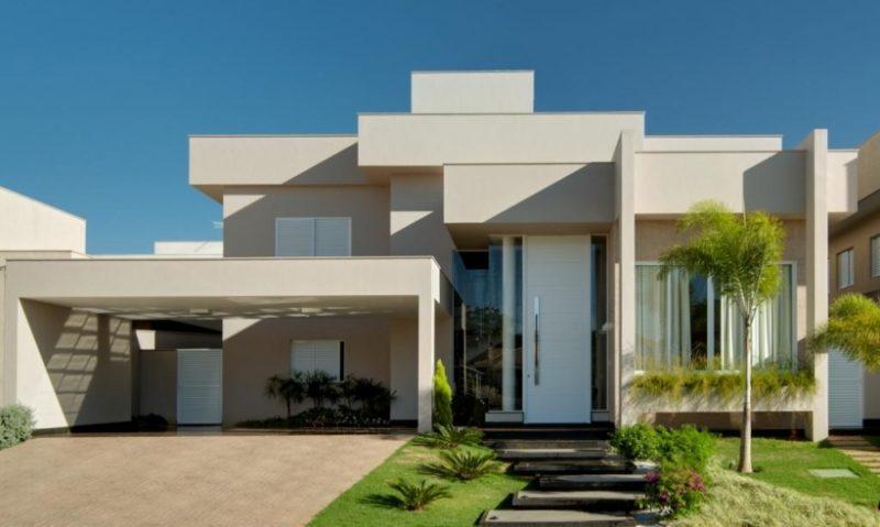 Casas modernas com telhado platibanda