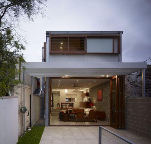 Casas modernas conceito aberto