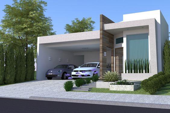 Casas modernas veja mais de 100 modelos projetos e for Modelos de casa estilo minimalista