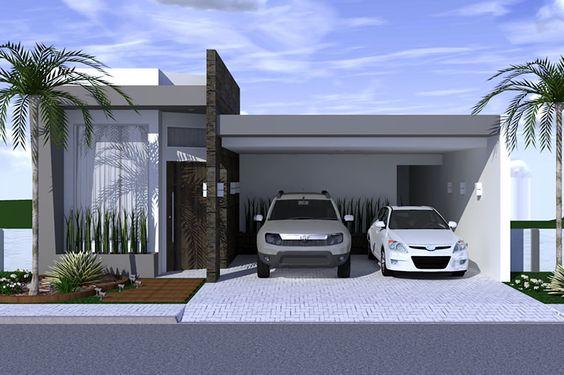 Top frentes de casas modernas wallpapers - Modelos de fachadas de casas modernas ...