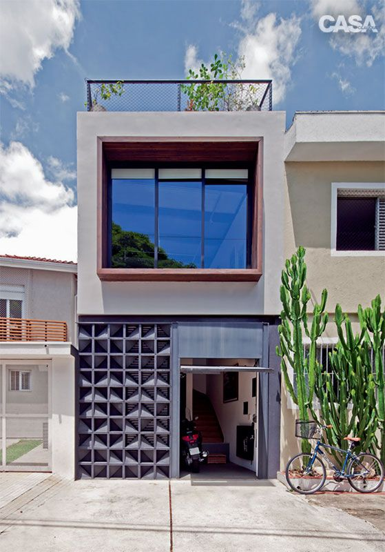 Casas modernas veja mais de 100 modelos projetos e for Casa moderna 100m2