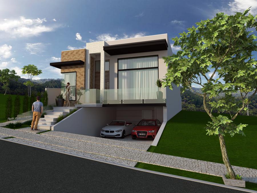casas modernas com garagem subterranea