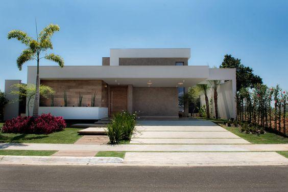 Casas modernas veja mais de 100 modelos projetos e for Casas modernas terreras