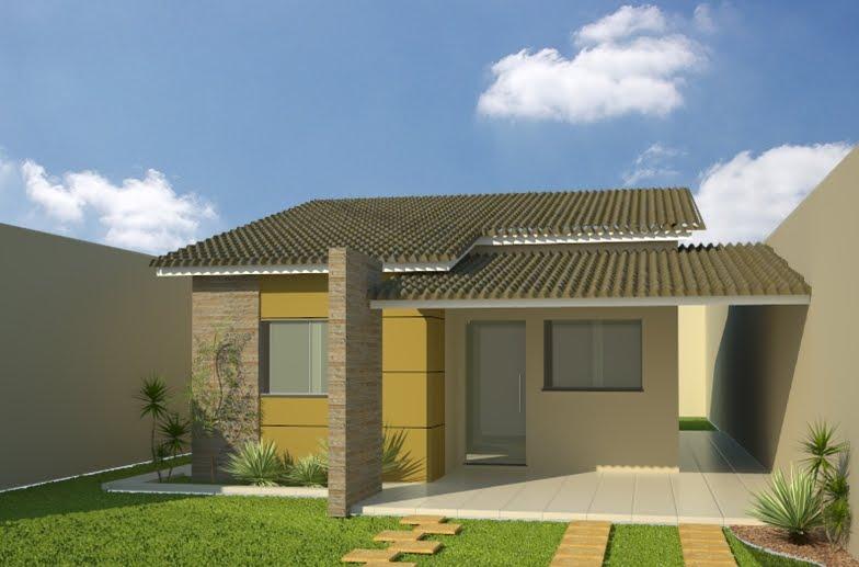 Casas modernas veja mais de 100 modelos projetos e for Arquitectura moderna casas pequenas