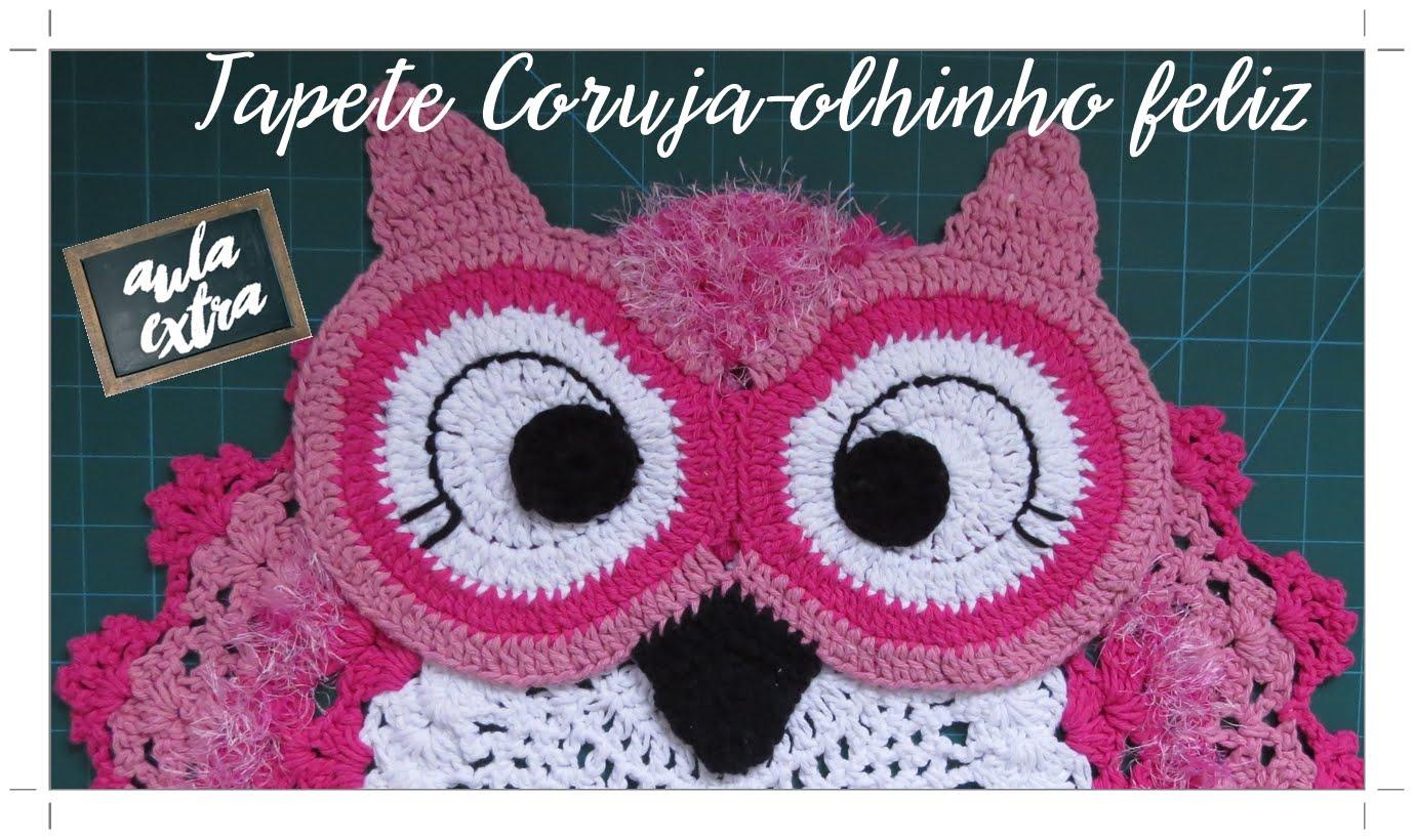 Coruja De Croch Veja Modelos Com Gr Fico E Passo A Passo -> Tapetes De Croche Para Sala