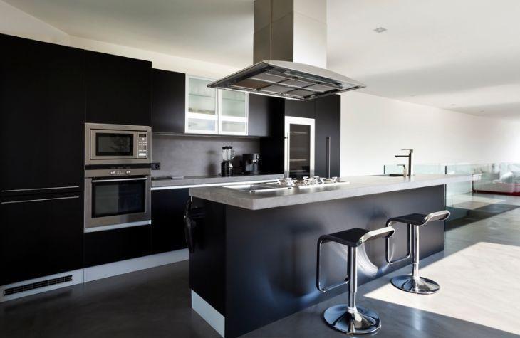 Cozinha de luxo preta