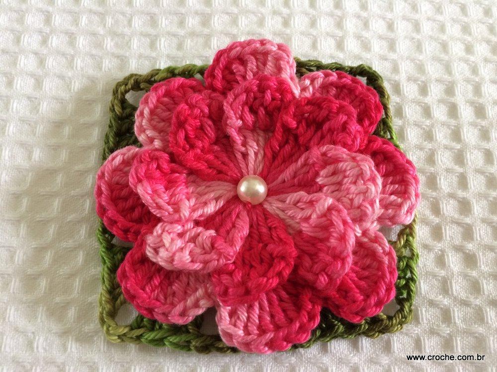 Flores de crochê catavento
