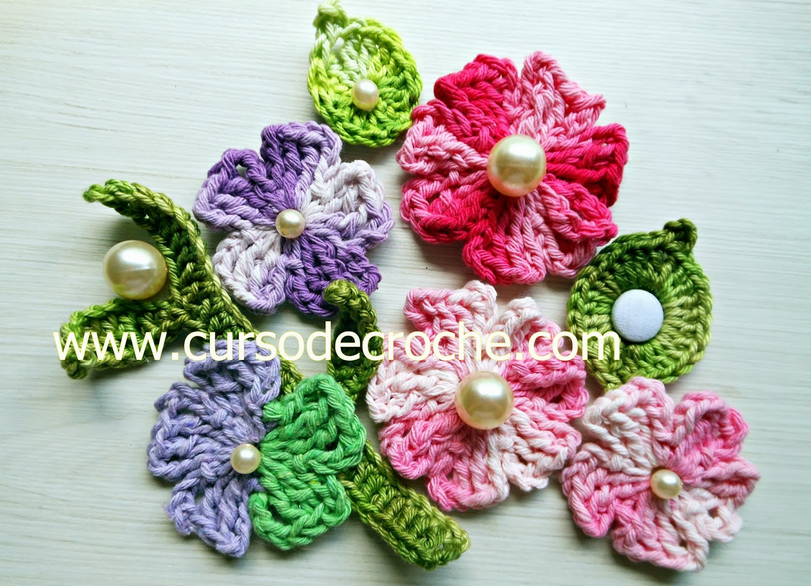 Adesivo De Alto Desempenho Para Argamassas ~ Flores de Croch u00ea Veja +30 Modelos Com Passo a Passo