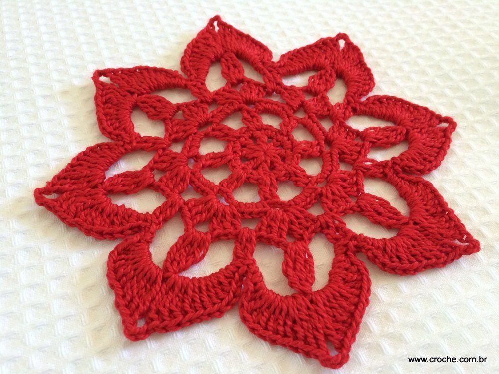 flor de croche hibisco